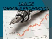 law of variable proprotion