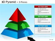 3 STAGES 3D PYRAMID PROCESS MOVING UPWARDS BUSINESS