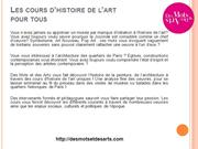 DMEDA - Cours histoire art