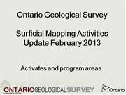 Ontario Geological Survey: Surficial Geological Mapping 2013