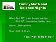 Math and Science Night 2009