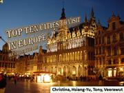 TOP TEN CITIES TO VISIT IN EUROPE