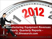 IC Manufacturing Equipment Revenues Yearly, Quarterly Reports