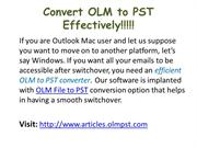 Mac OLM to Windows PST File Migration