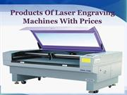 Products Of Laser Engraving Machines With Prices