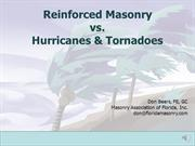 Masonry Education Series:  Masonry vs. Hurricanes & Tornadoes