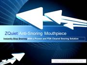 Buy ZQuiet and Stop Snoring With a Proven FDA Cleared Snoring Device