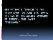 Patton's Speech