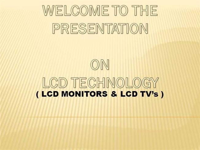 Lcd tv powerpoint template templateswise. Com.