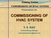 TRAINING SESSION_HVAC SYSTEM COMMISSIONING