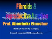 Fibroids and reproduction
