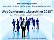 Einladung WebConference Recruiting 2013