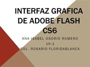 Interfaz grafica de Adobe Flash
