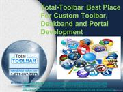 Total Toolbar Best Place For Toolbar, Deskband and Portal Development