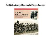 British Army Records Easy Access