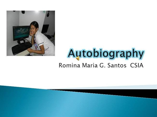 autobiography powerpoint template