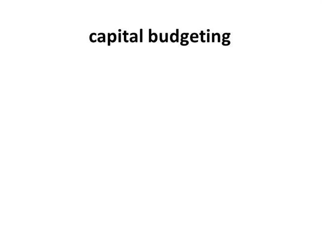 Capital Budgeting Research Paper Starter