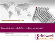 German Automobile Sector Forging Ahead