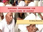 National Program for Healthcare for Elderly