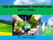 Enviornmental Protection Act 1986  ( INDIA )