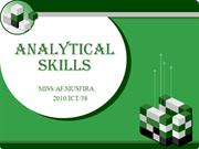 ANALYTICAL      SKILLS - NEW ONE