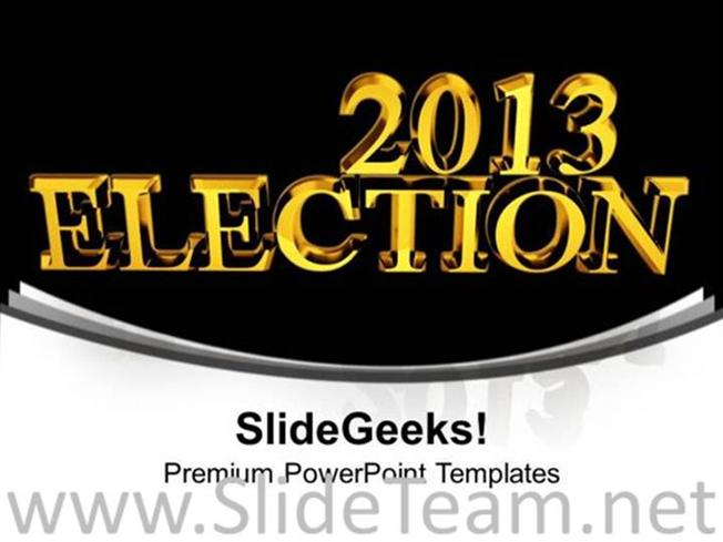 2013 Election Time Government Powerpoint Templates Powerpoint Template