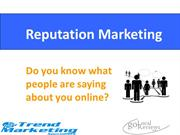 Reputation Marketing For Local Businesses