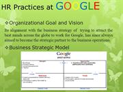 HR Practices at GOOGLE