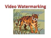 Video Watermarking