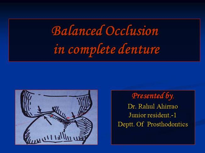 normal occlusion ppt