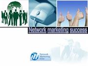 Network marketing success
