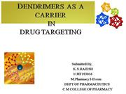dendrimers as a carrier in drug targeting