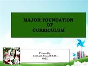 Curriculum and Foundation of Education
