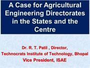 ISAE Presentation for Dept of Ag. Engg in each state