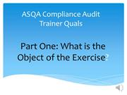 ASQA Compliance Audit email