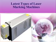 Latest Types of Laser Marking Machines