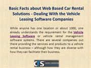 Basic Facts about Web Based Car Rental Solutions