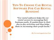 Tips To Choose Car Rental Software For Car Rental Business
