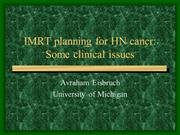 01_planning for HN India Feb 2013 (Cancer CI 2013) Avraham Eisbruch
