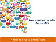 01 - Create a Test with the Docebo E-Learning platform: Test Tool