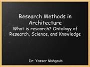 Research Methods in Architecture - What is research?