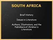 South Africa Childrens Literature