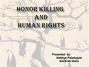 Honor killing (1)