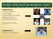 world wide trade in medicinal plants