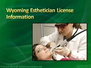 Wyoming Esthetician License Information