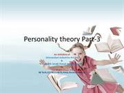 Personality trheory Introduction part-3