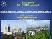 Adjuvant therapy _gastric cancer _final -day3