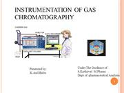 instrimentation of gas chromatography
