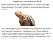 The best ways to Dispose of Acid reflux