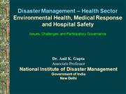 Disaster Environmental Health Medical